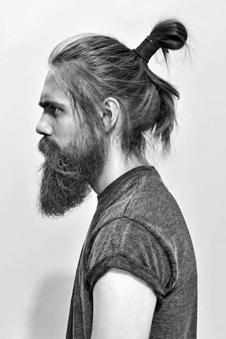 modern samurai hairstyle for men