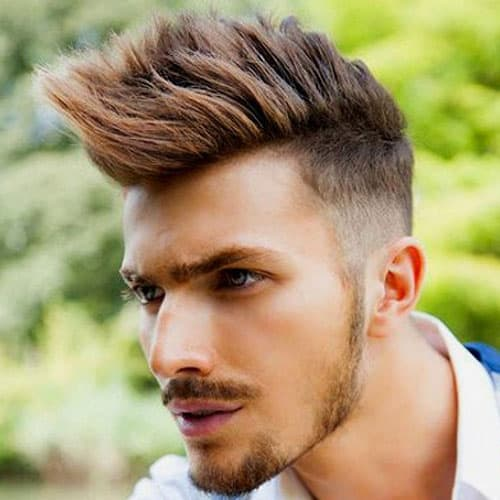 Faux Hawk Hairstyles For Men With Round Face Shapes