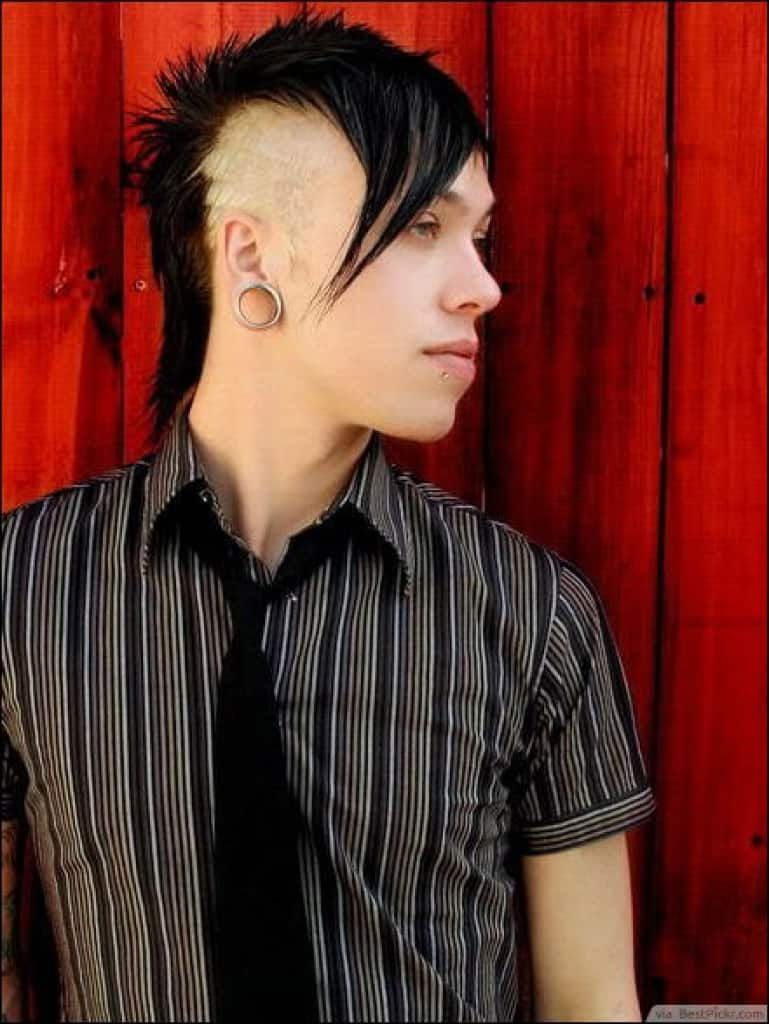 Emo Mohawk hairstyle for young boy