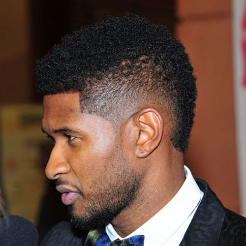 Usher fade curly Short Hairstyle