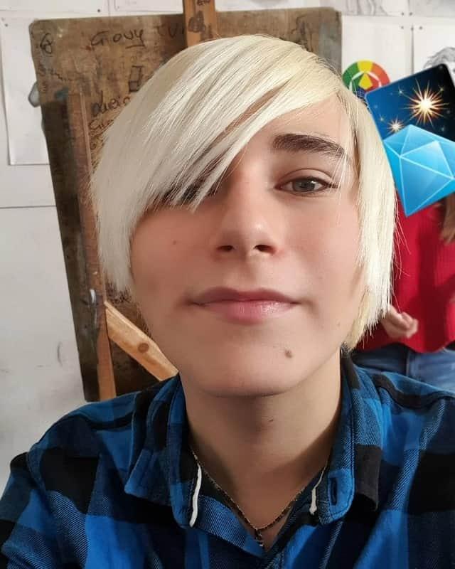 Blonde Scene Hair for Boys