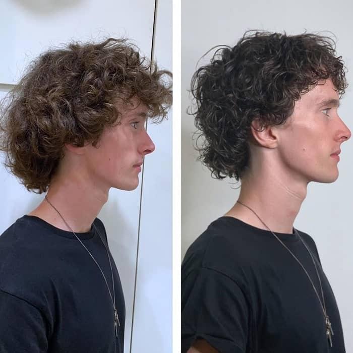 Mushroom Haircut With Curls