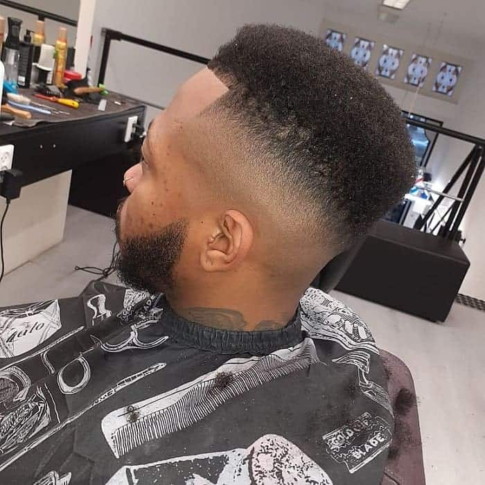 High Top Fade Haircut For Black Men