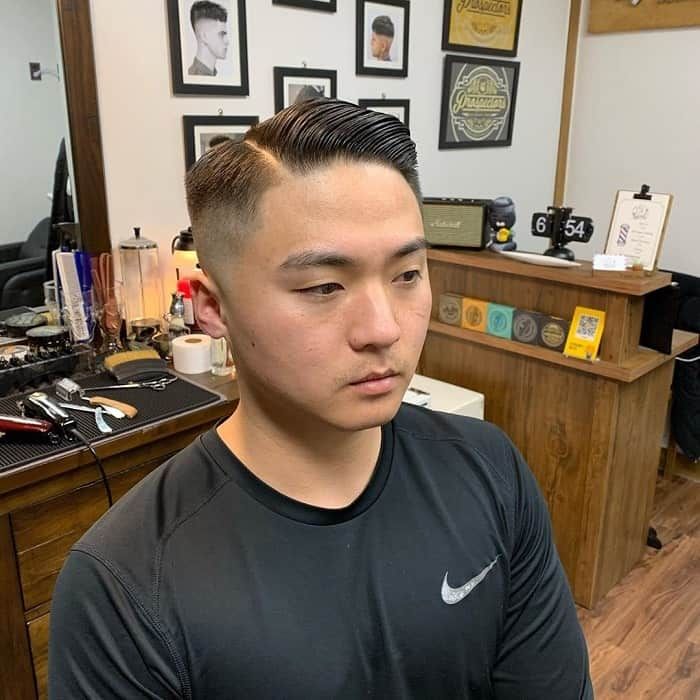 Bald Fade Haircut with Part