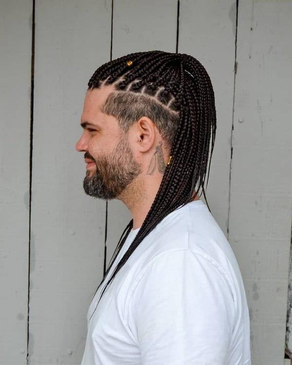 Long Box Braids for Guys
