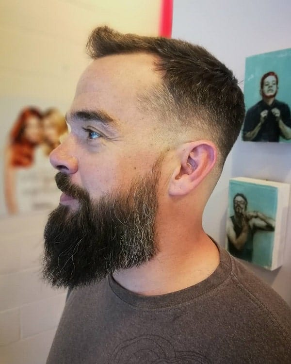 Low Fade Haircut With Beard