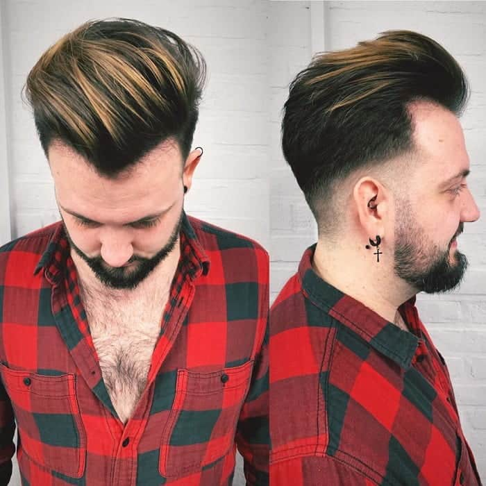 Men's Dark Hair with Blonde Highlights