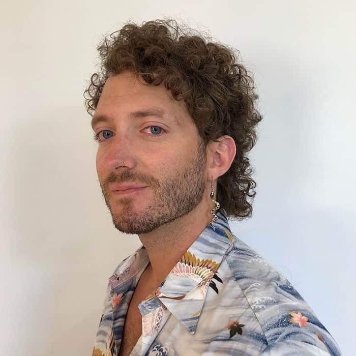 Short Curly Mullet
