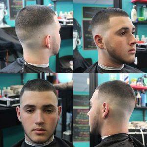 high tight military haircut men