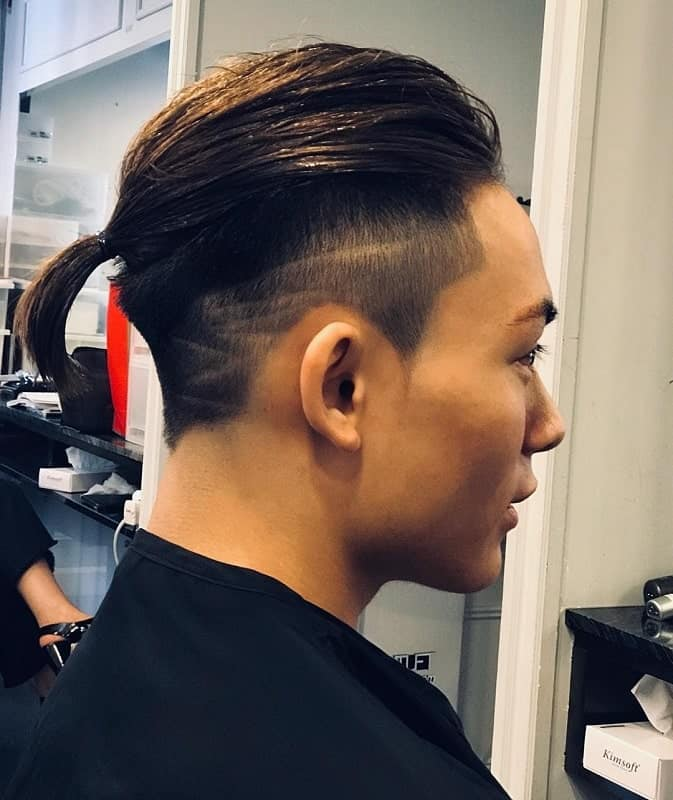 Asian Men Ponytail