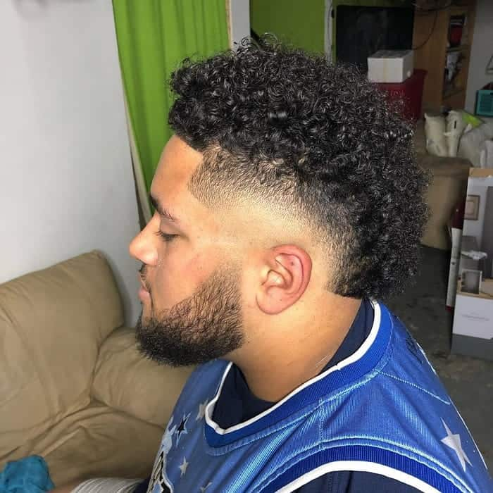 Curly Burst Fade