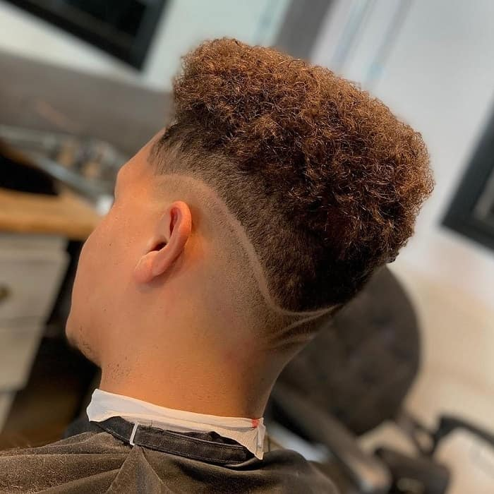 Curly Hair with Low Taper Fade