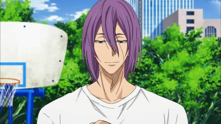 anime guy Atsushi Murasakibara with long hair