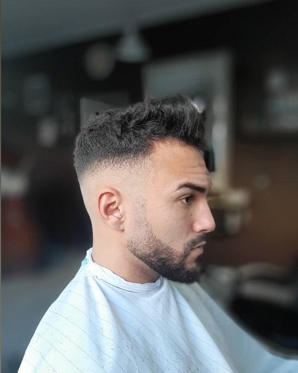 Fade Haircut With Short Beard