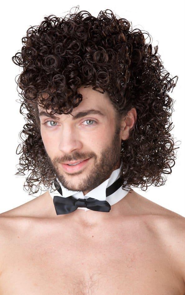 men's permed long mullet hairstyle