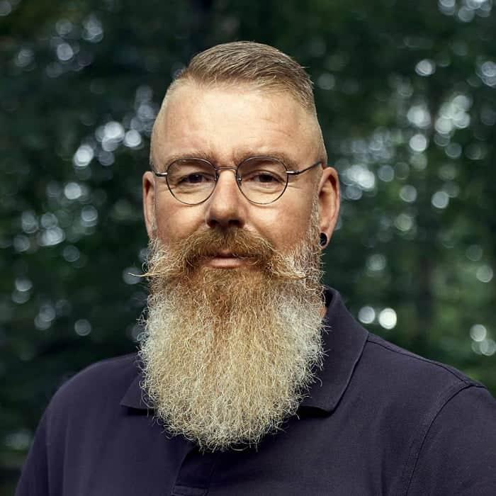 Faded Haircut with Long Beard