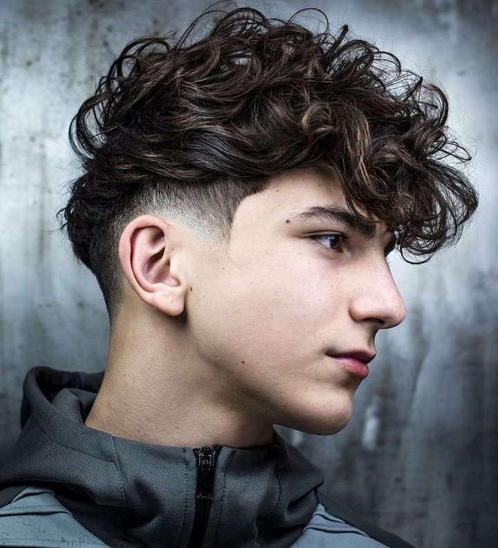 curly hairstyle for 12 year old boy