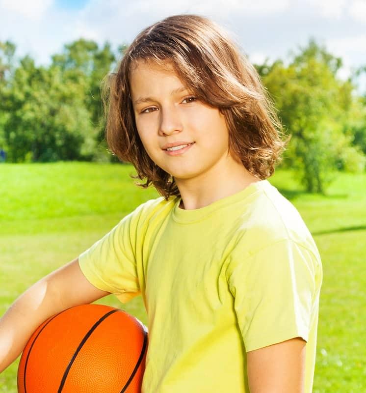12 year old boy's long haircut