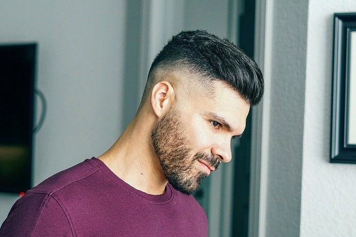 Comb Over Fade for Bearded Guys