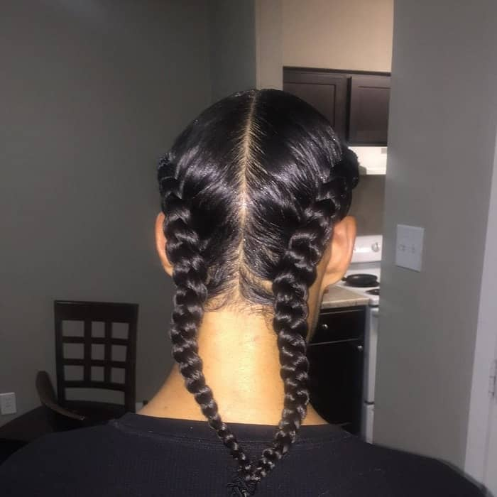 Men's Two Braids