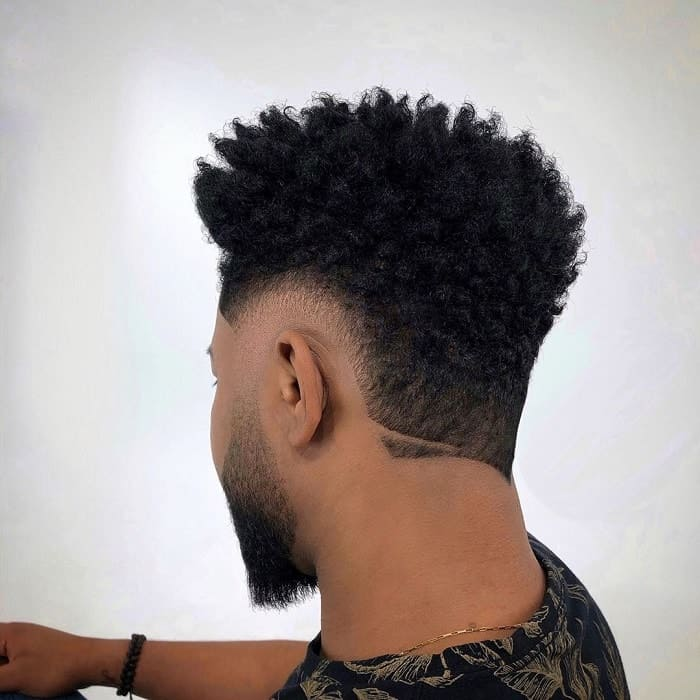 Burst Fade on Afro Hair