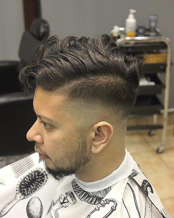 Side Part on Wavy Hair for Men