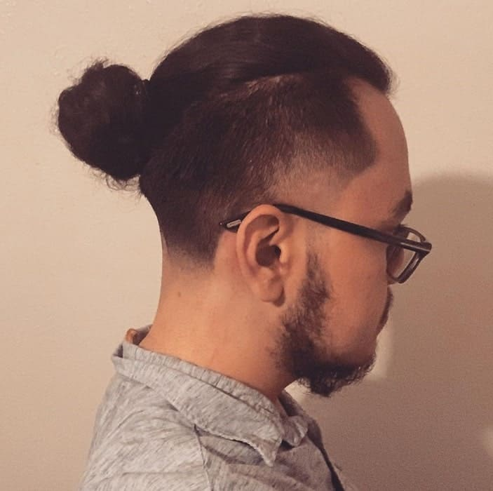 Temp Faded Man Bun