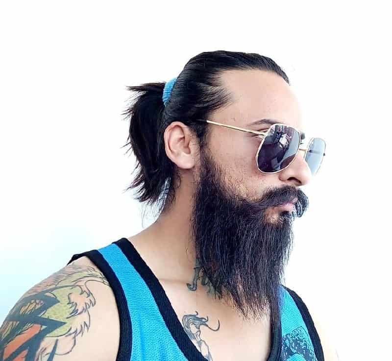 Ponytail with Beard