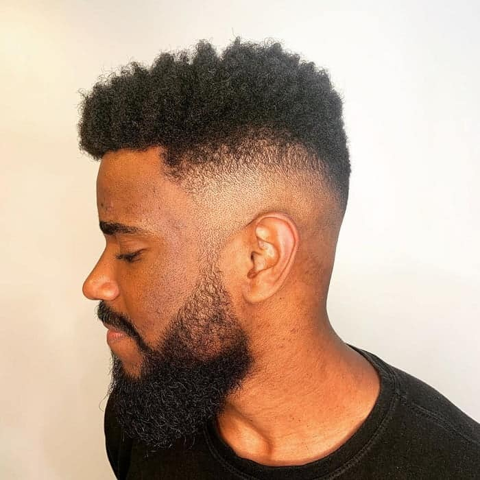 Black Guy with Mid Fade