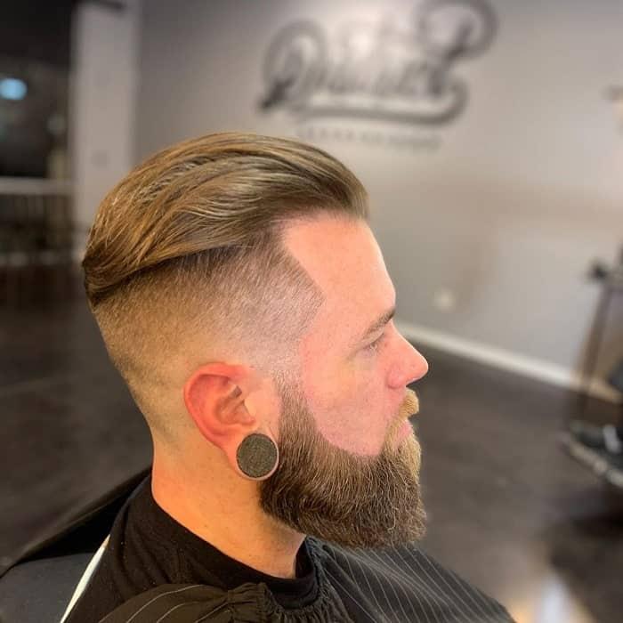 Shadow Fade Haircut with Beard
