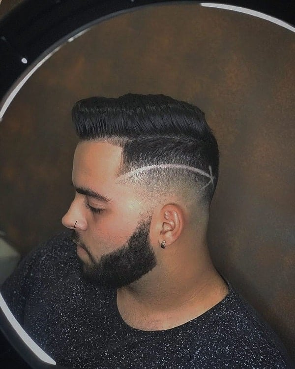 Shadow Fade Haircut with Part