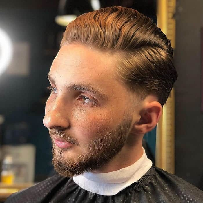 Slick Back Hair with Side Part