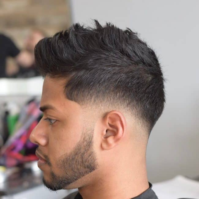 textured fauxhawk for short hair