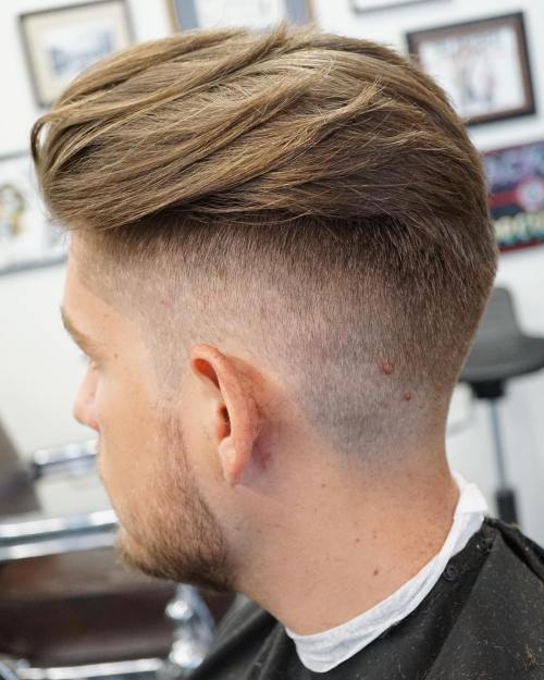 Subtle Fade with Slick Back Hair
