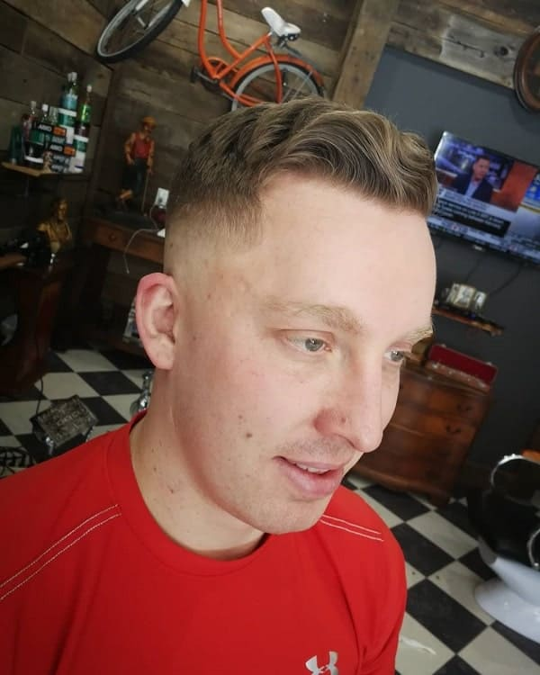 Short Fade On Men's Wavy Hair