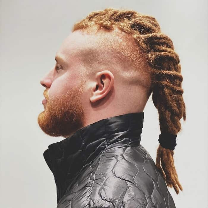 Braids with Bald Fade