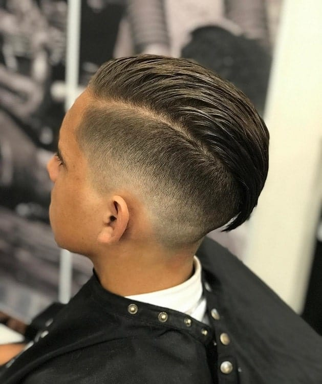 Boys Comb Over Fade