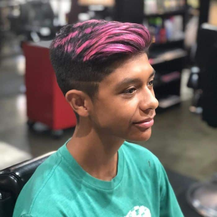 Boys long on top short on sides haircut