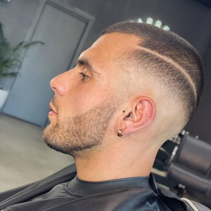 Mid Fade with Line