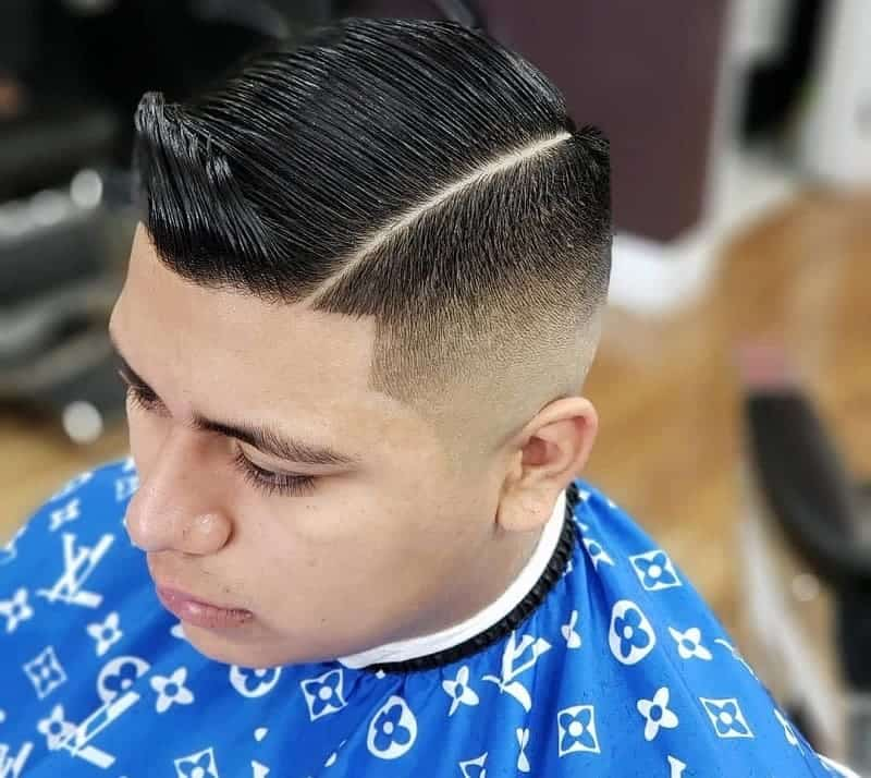 Comb Over with Line Up