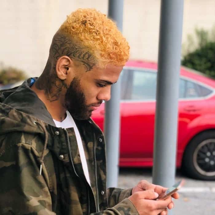 Curly Bald Fade