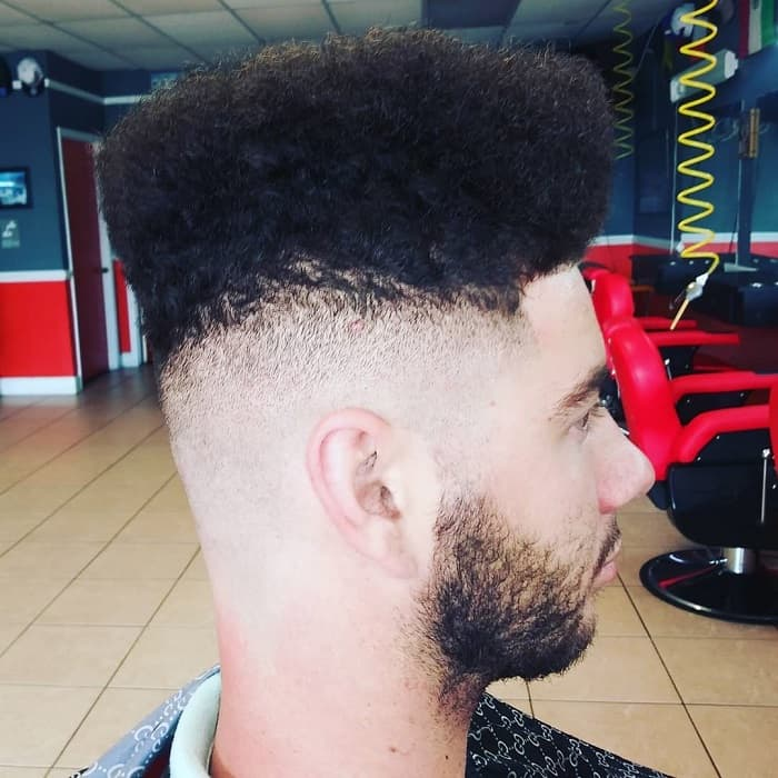 Drop Fade on High Top Hair