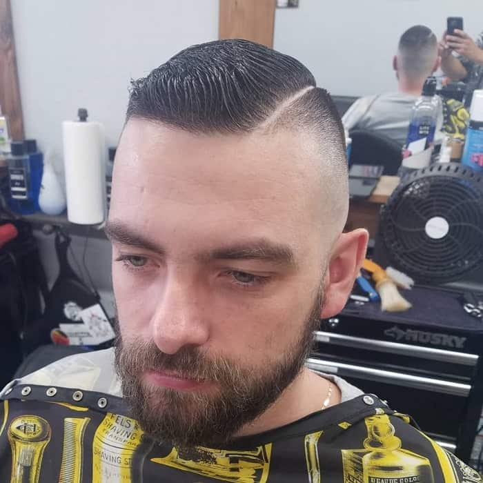 Skin Fade on Side Part Haircut
