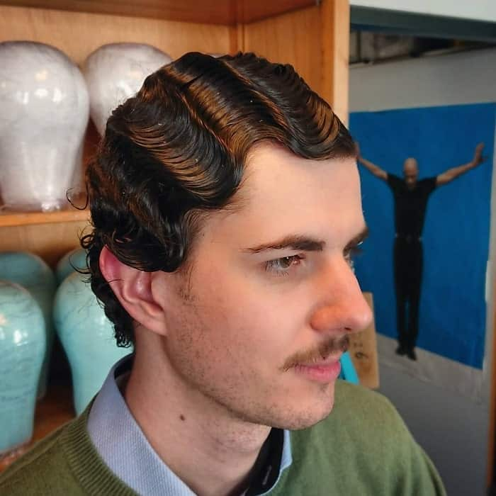 1920s Finger Waves For Guys