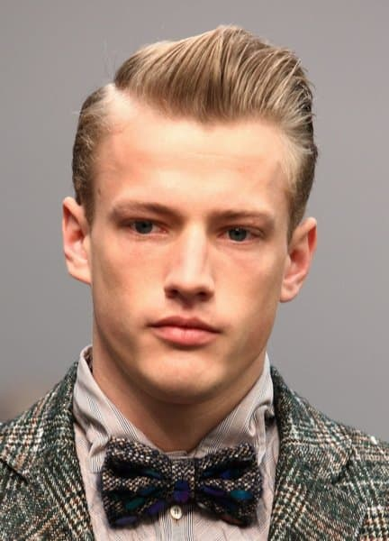 1950's side parted hairstyle
