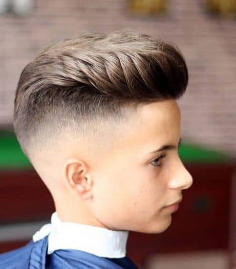 pompadour haircut for little boys