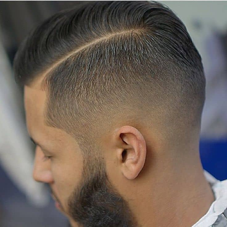 mens favorite Sideburn hairstyle with beard