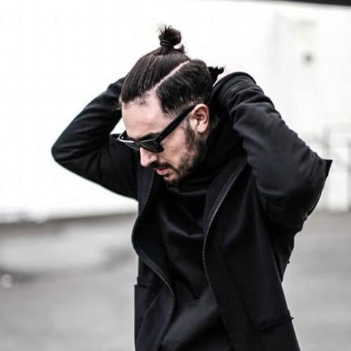 Top Knot samurai hairstyle for men