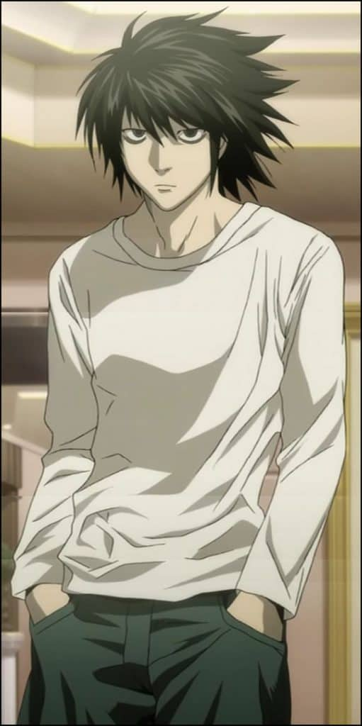 anime character black hairstyle Guys