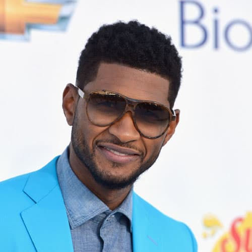 Usher short curly hairstyle